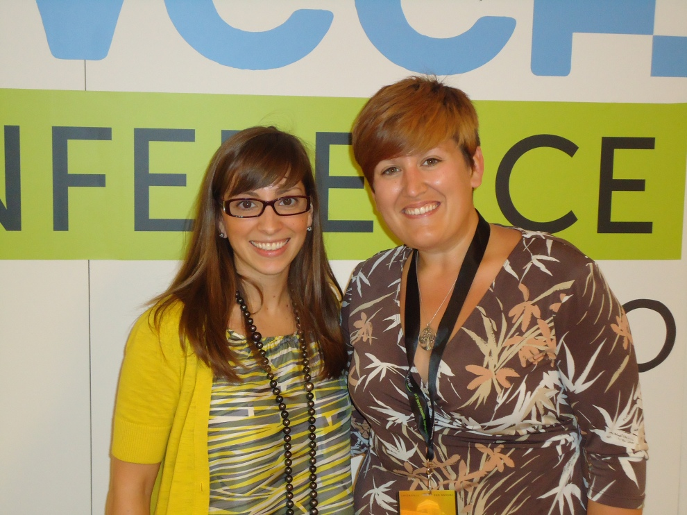 Leah Busque and WBDC's Bethany Hartley at TechWeek Chicago